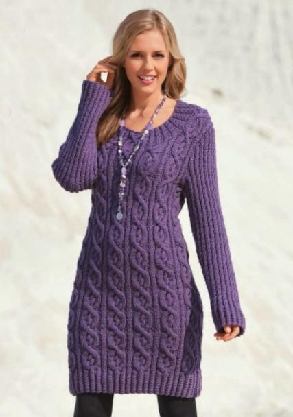 Как украсить облегающее вязаное платье