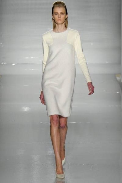 Шерстяное платье с рукавами фото