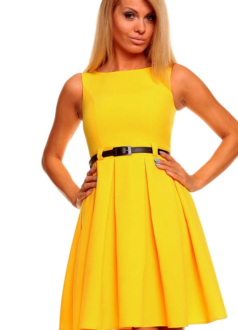 Красивое желтое платье сшить