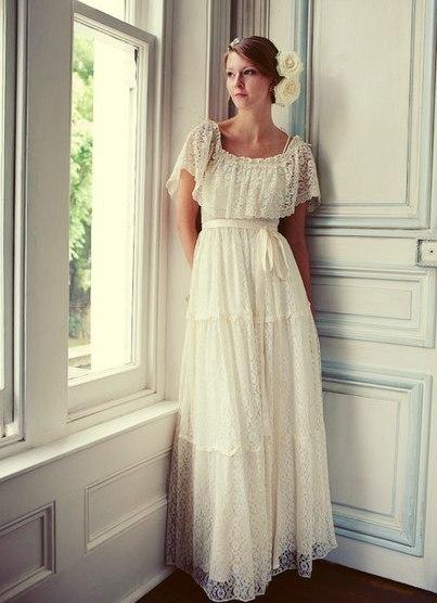 Винтажное свадебное платье фото