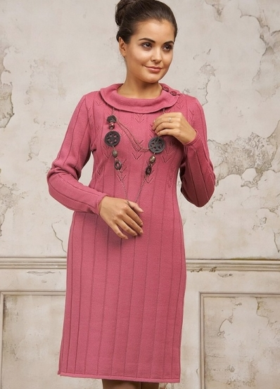 Связать плотное платье