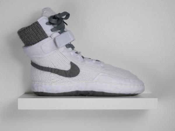 Вязаные кроссовки 1 · Вязаные