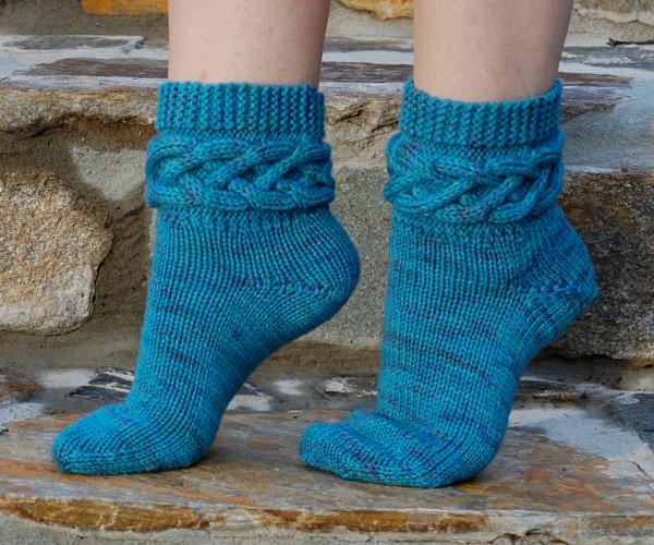 дома вязание носков узоры просто