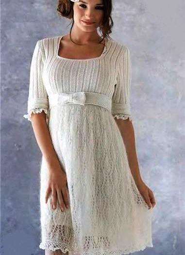 Вязаные платья беременных