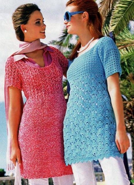 Вязание теплого платья и туники
