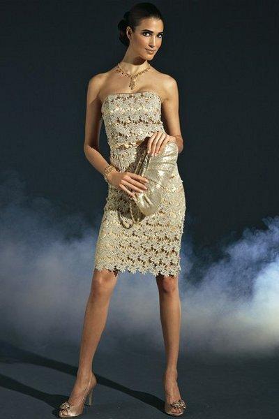 Платье вязаное праздничное