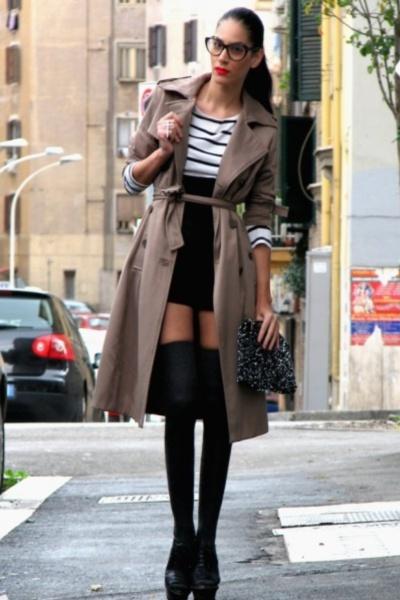 Платье чулки улица