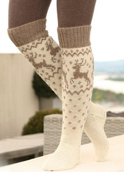 Вязаные спицами носки 2