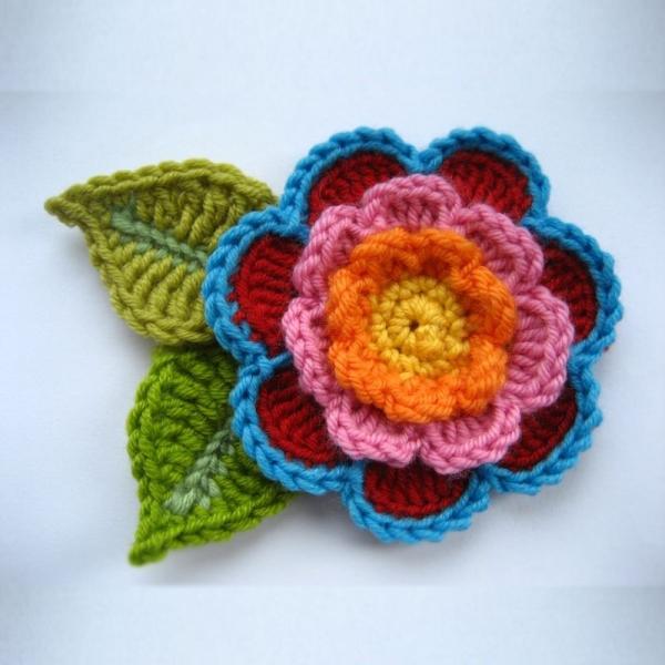 Цветок крючком мастер класс фото