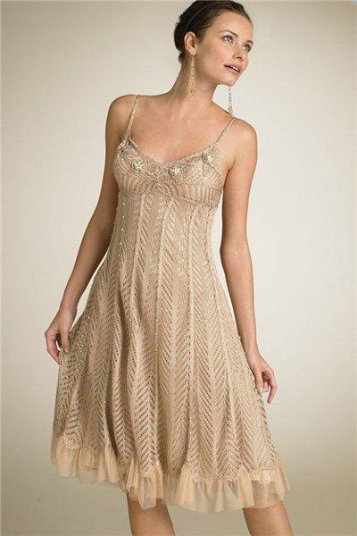 Вязаное вечернее платье. Купить