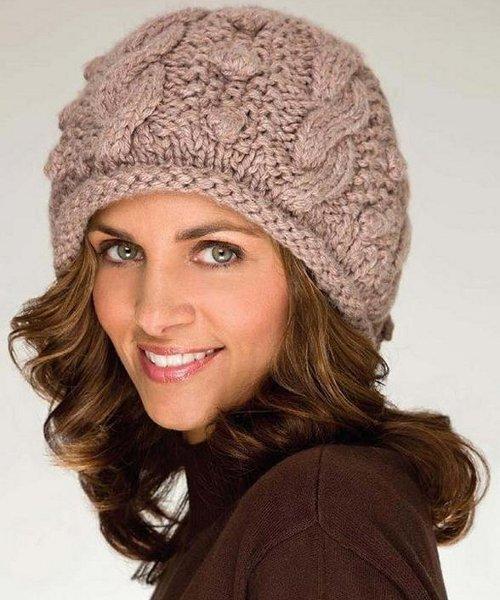Женские шапки спицами - ВЯЗАНИЕ ШАПОК. поделки в днё осени сделанные своими руками с фото