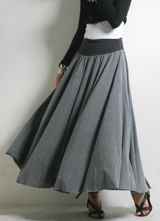 Выкройка юбки макси с кокеткой