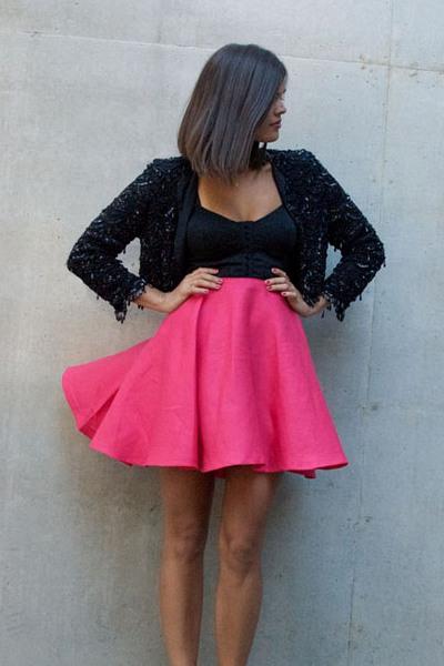 Резинка для юбки розовая