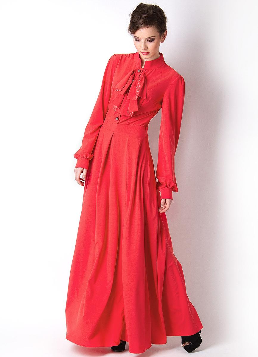 Купить платье закрытая шея