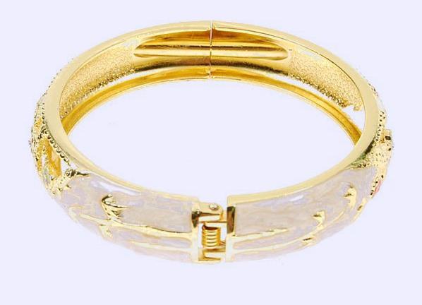 золотые толстые браслеты женские фото и цена
