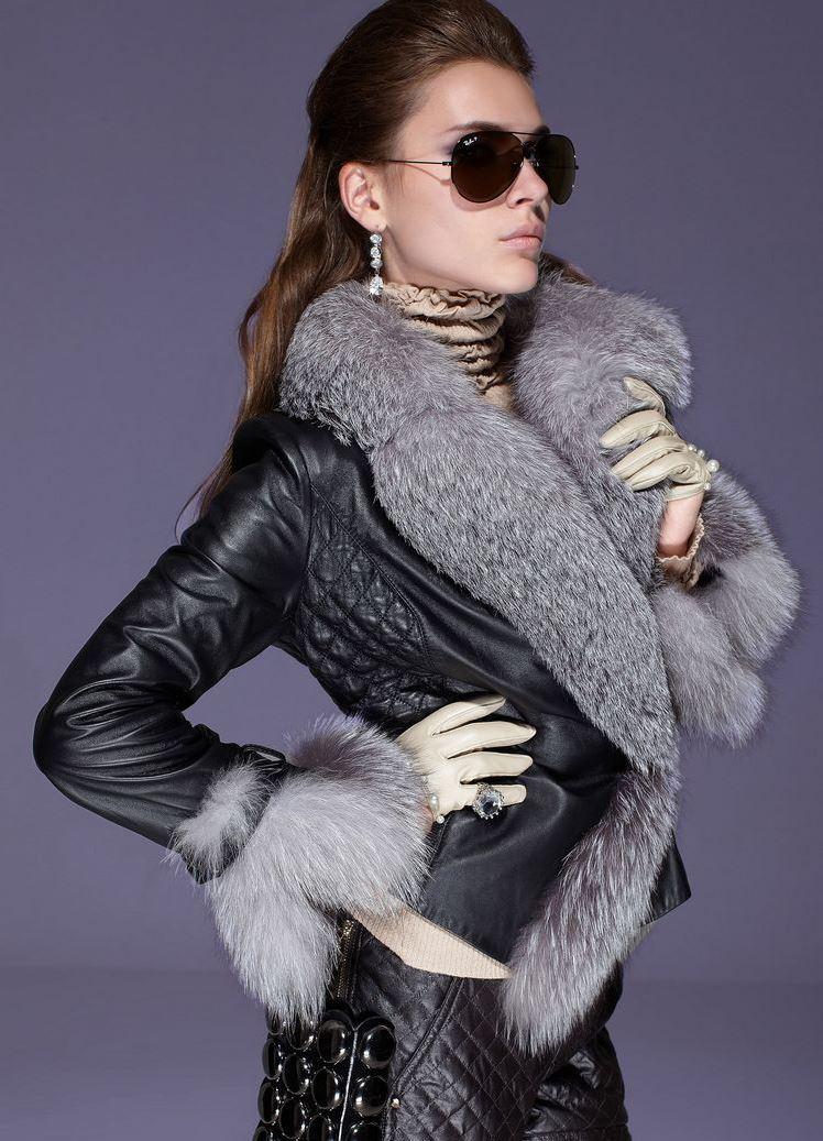 Кожаные куртки зимние женские