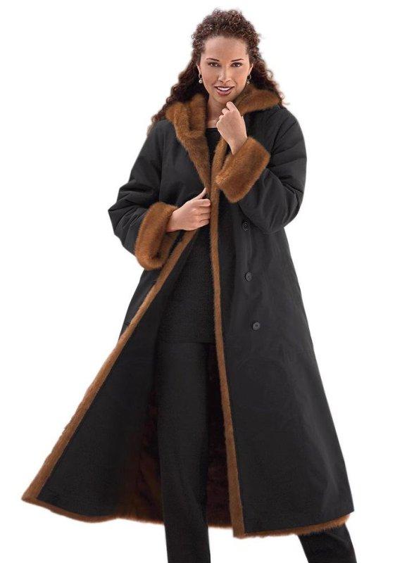 Зимняя одежда для полных девушек от зарубежных производителей