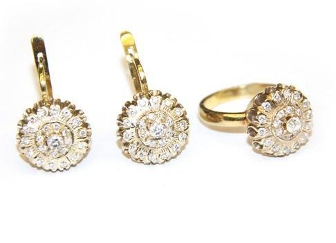 сережки золотые кольцами
