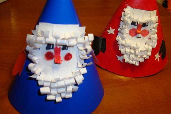 Дед мороз из бумаги своими руками для детского сада