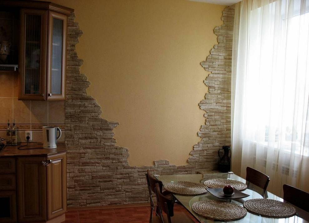 Фото стен декоративным камнем фото интерьеров