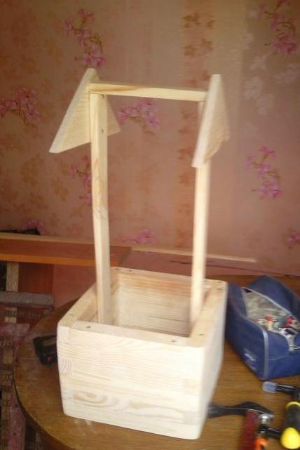 Колодец из доски декоративный пошаговая инструкция