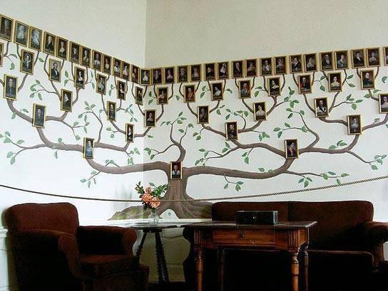 дерево для фотографий на стену