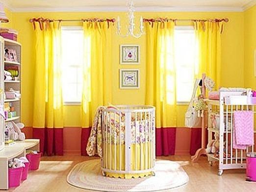 Шторы желтого цвета фото