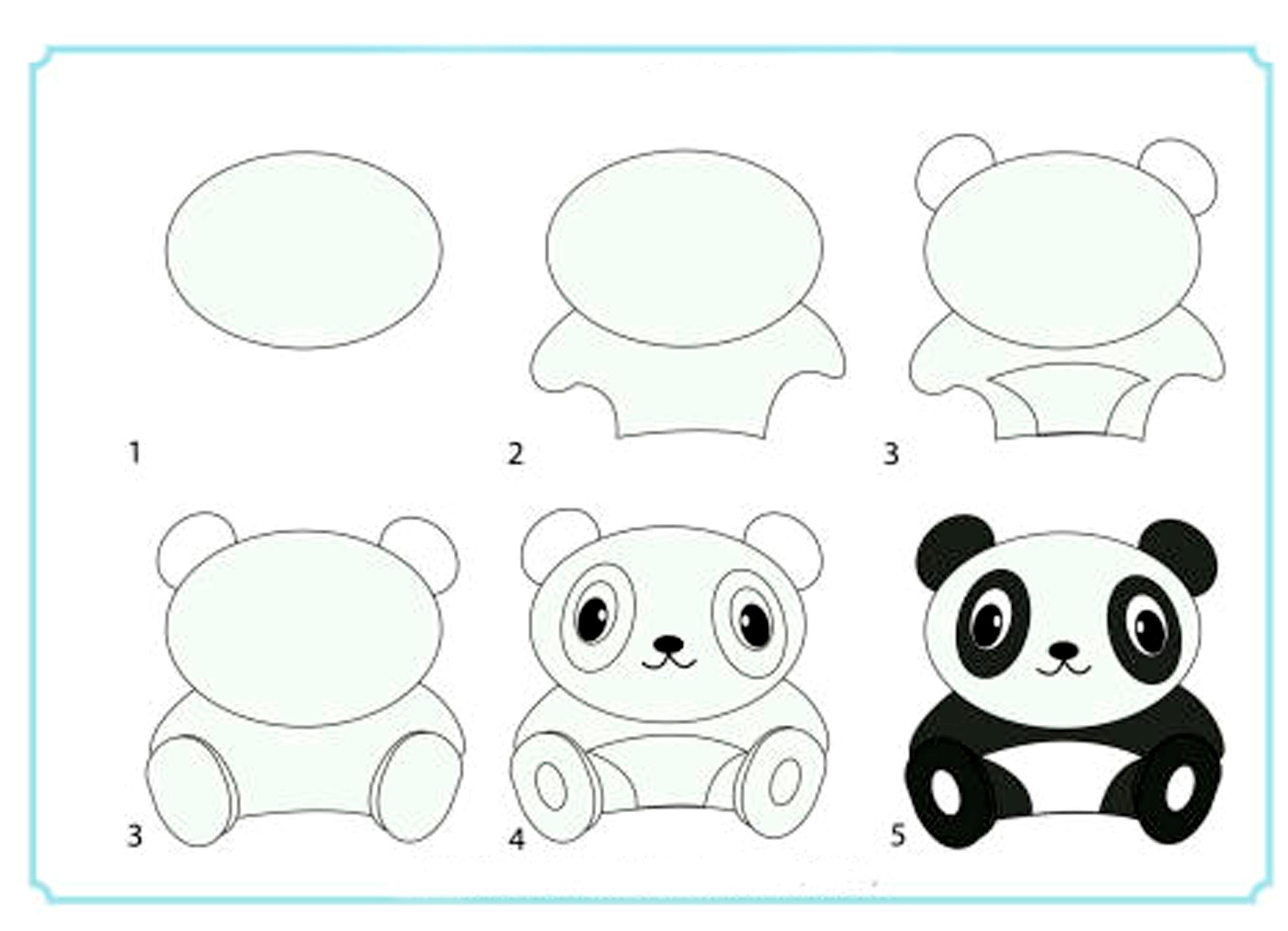 Простые рисунки поэтапно для детей 6