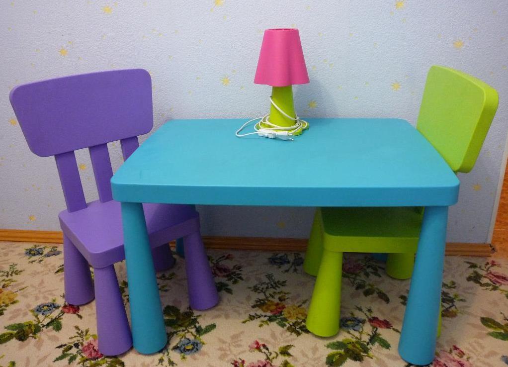 детский стол и стул икеа фото