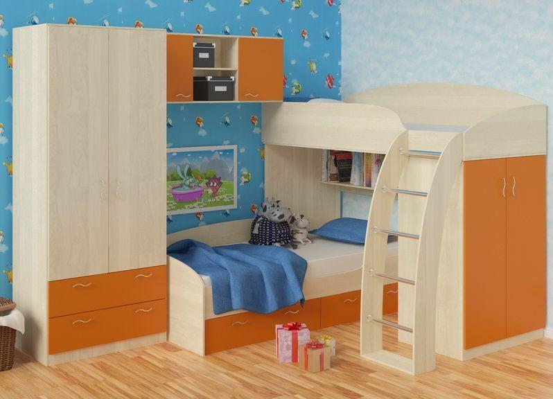 Детский уголок с кроватью фото