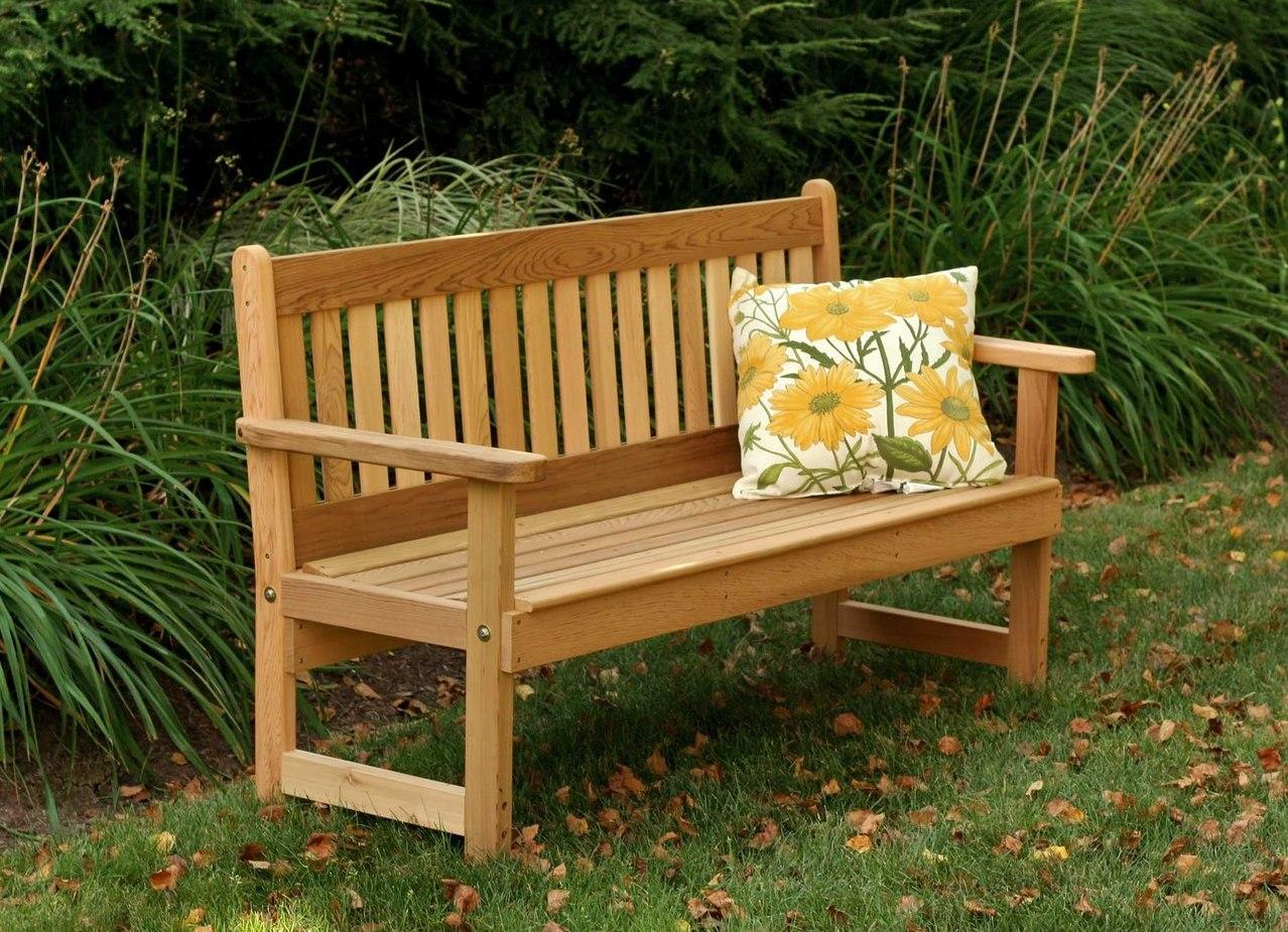 Садовая скамейка своими руками из дерева с