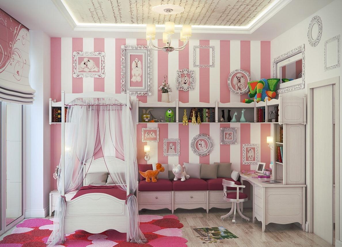 Дизайн спальни для маленькой девочки
