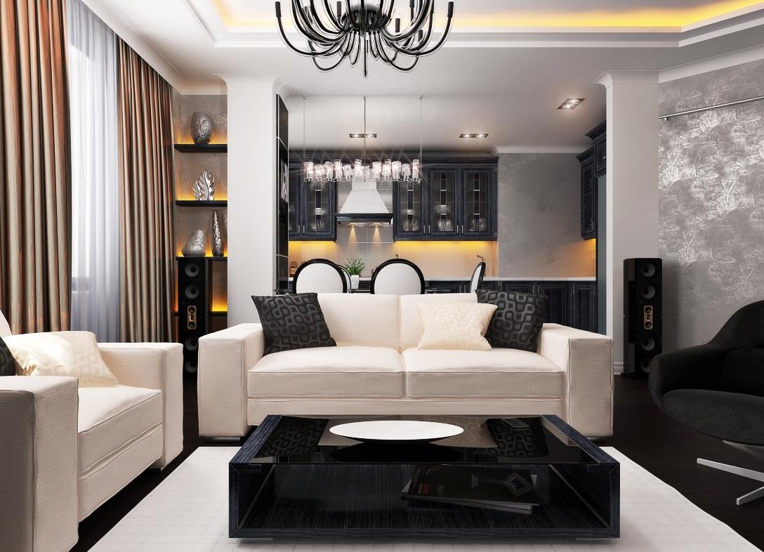 Гостиная  дизайн простой