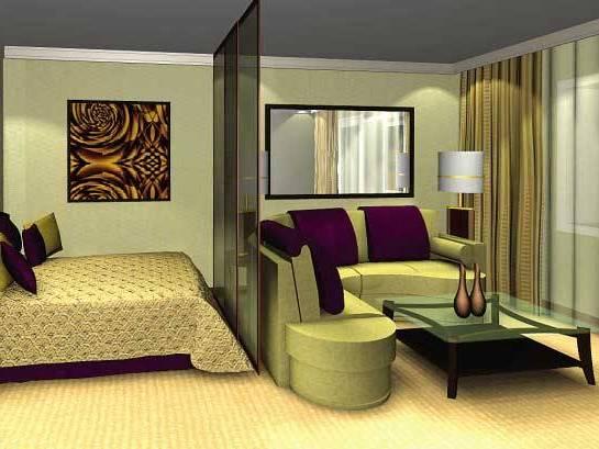 Дизайн узкой комнаты с камином