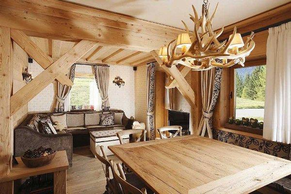 Дизайн интерьера деревянного дома1