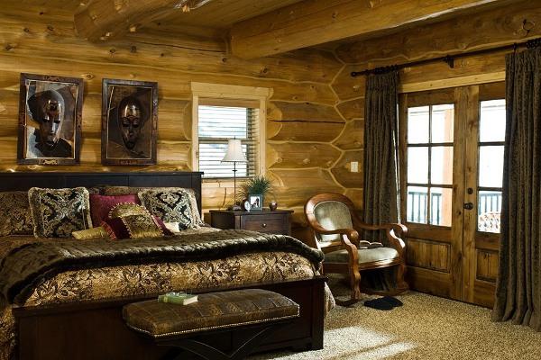 Фото дизайна интерьера деревянного дома