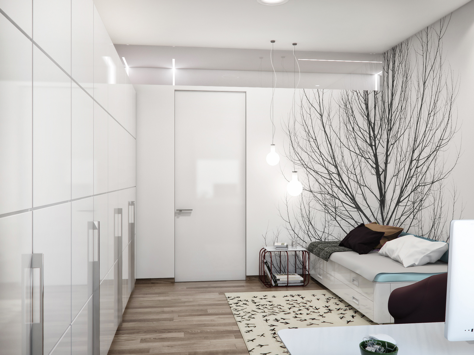 Маленькая спальня с диваном фото