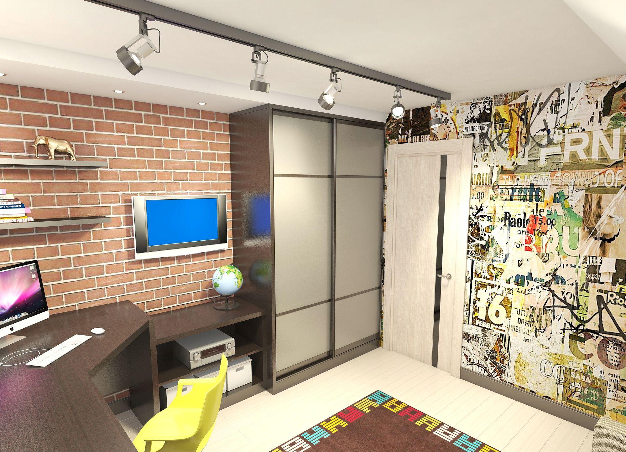 Шкаф в комнату подростка фото