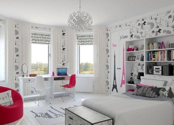 Комната девочки подростка дизайн интерьера стильные 181