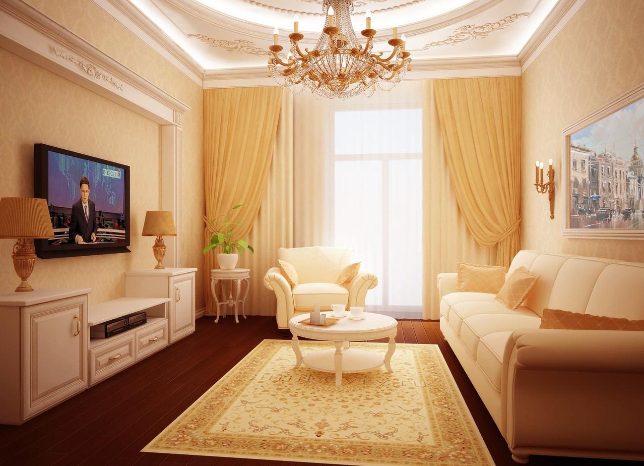 Интерьеры классической гостиной фото