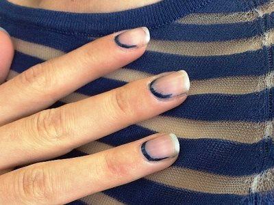 Дизайн ногтей френч красный с черным