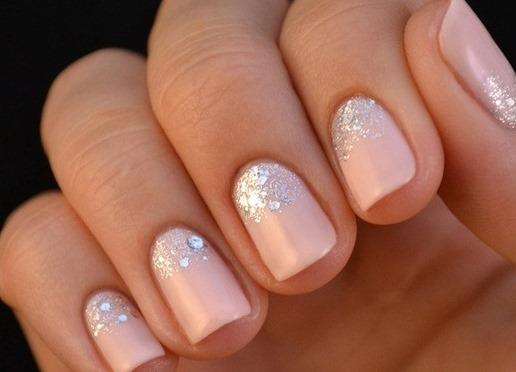 Блестки на ногтях дизайн
