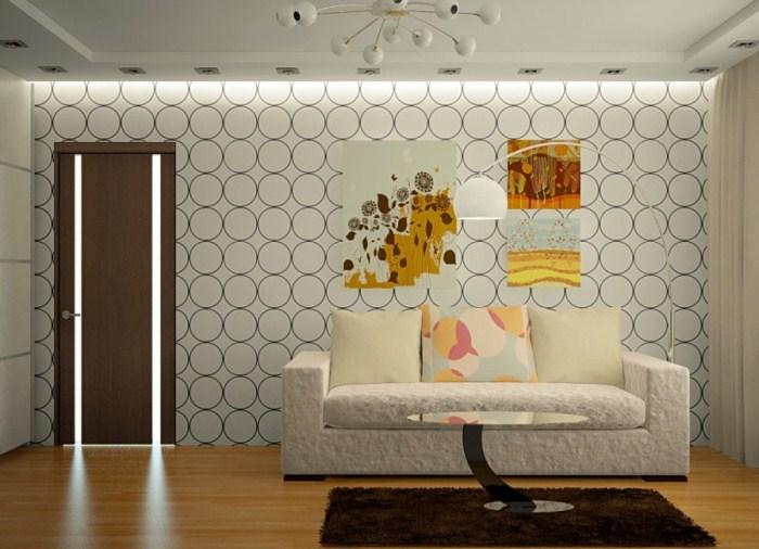 гостиная фото дизайн обои