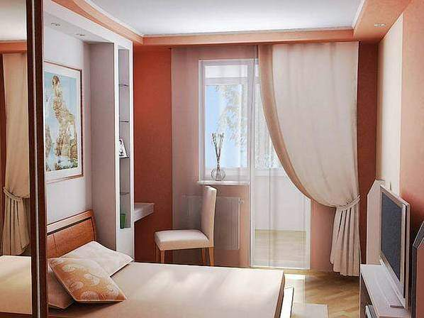 Шторы для маленькой спальни дизайн