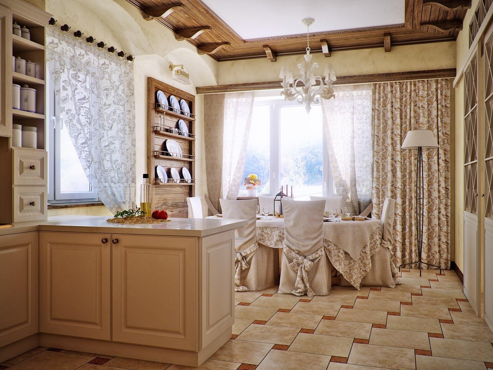 Дизайн столовой кухни