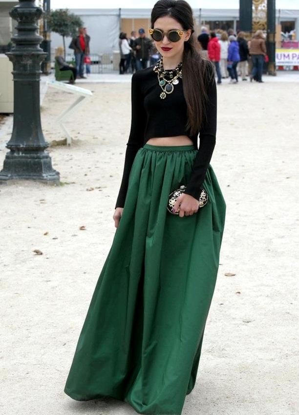 длинная зеленая юбка 1 · длинная зеленая юбка 2