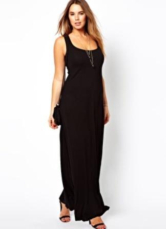 Платье майкой длинное фото