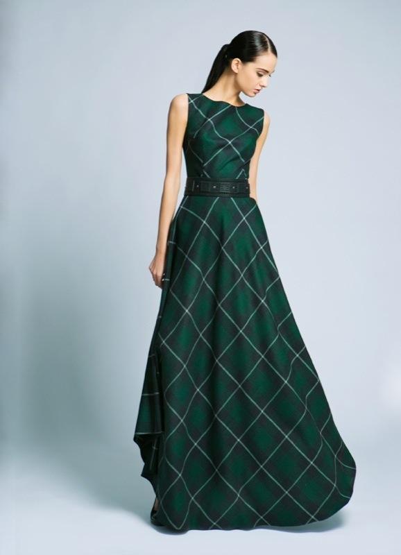Платье в клетку шотландка красно зеленое