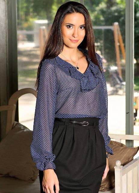 Фото модных блузок для полных доставка