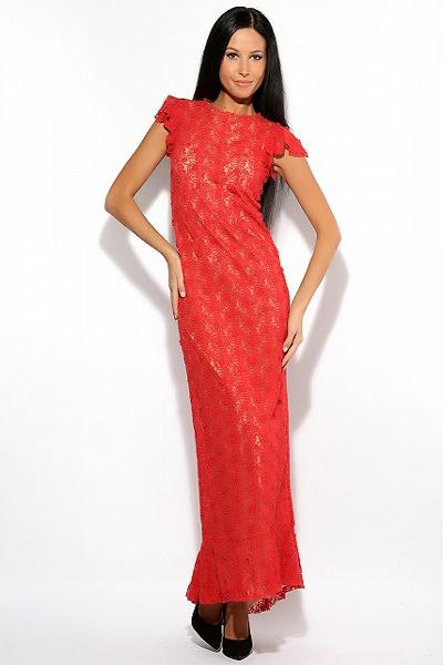 платья с гипюром фото длинные